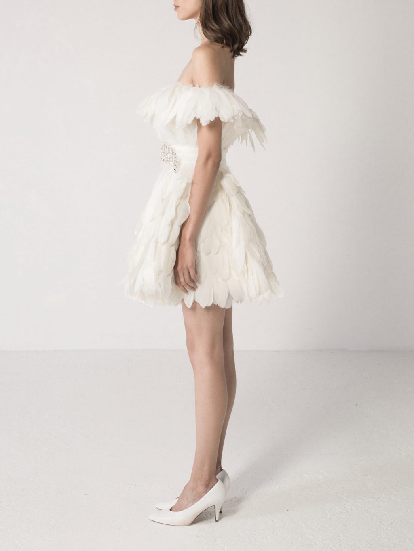 Feathered Mini Dress
