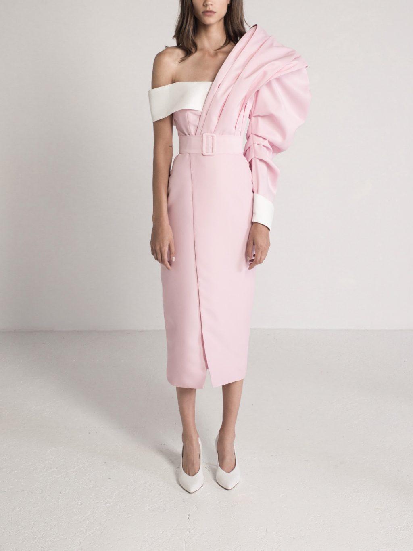 Oversized Sleeve Midi Dress