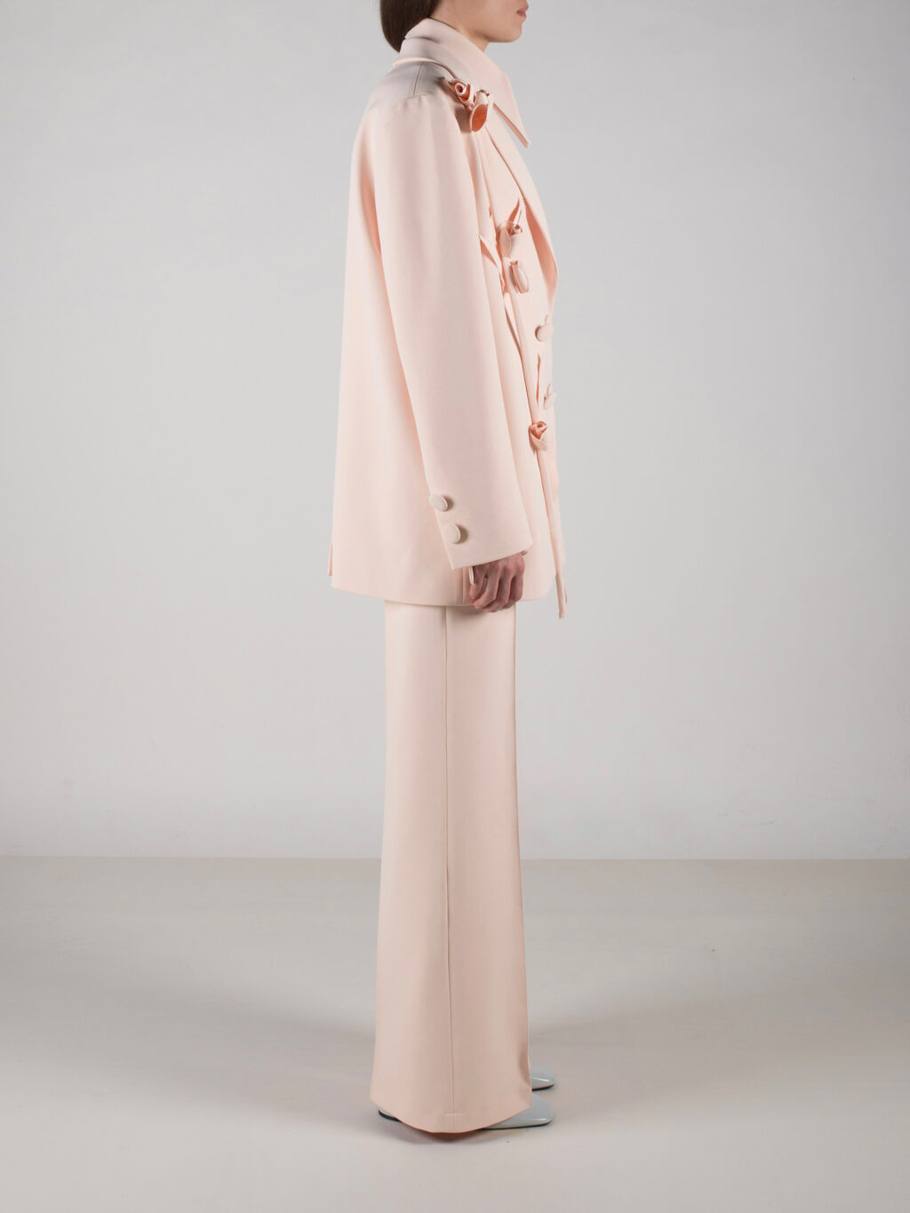 Flared Trousers In Peach