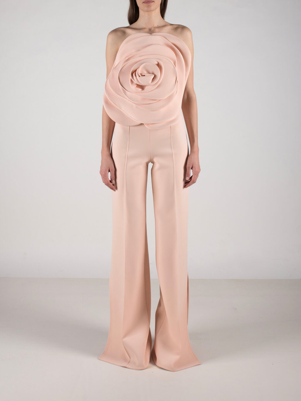 Top With Flower Detail In Peach