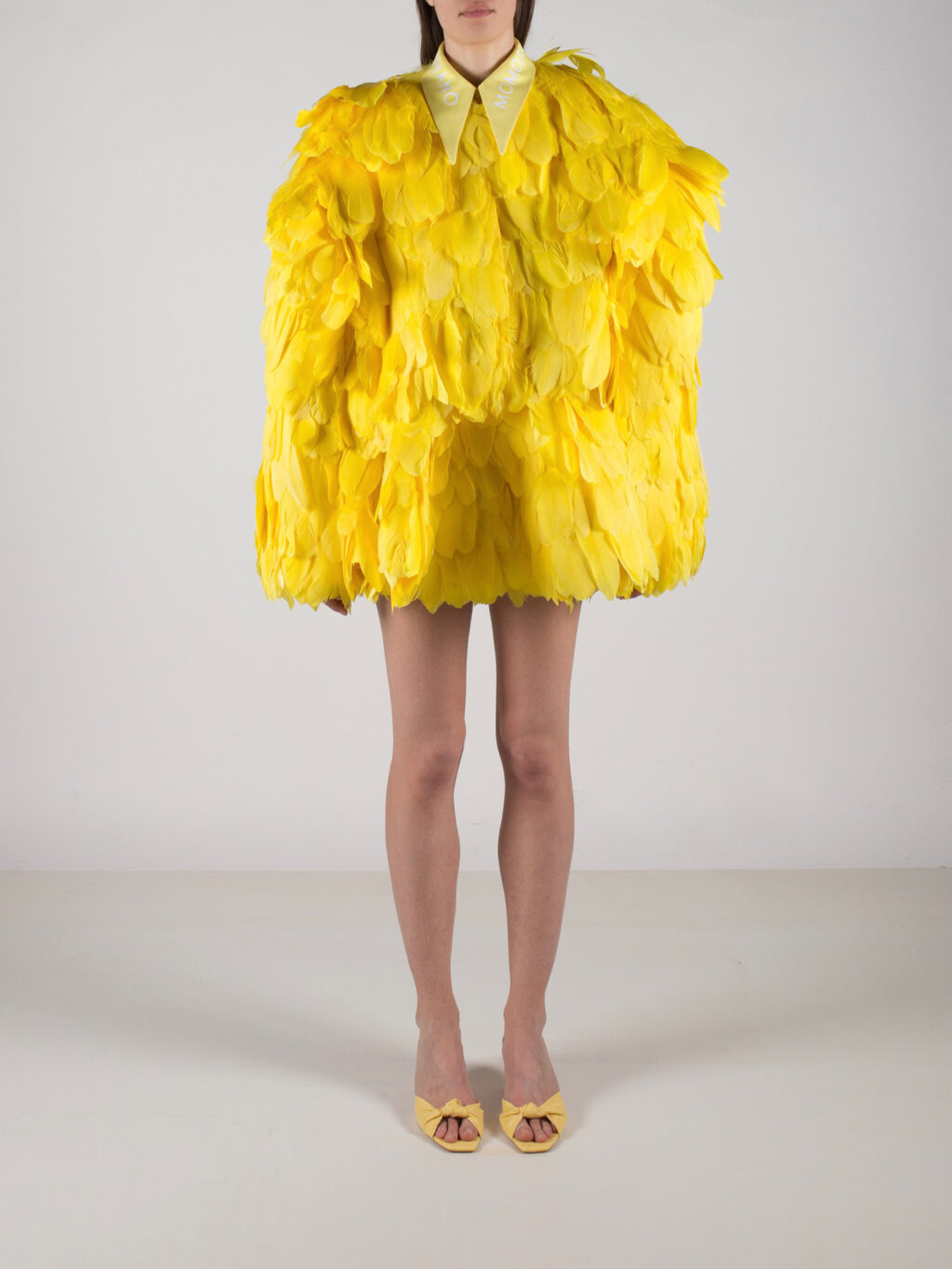 Bright Yellow Feathered Jacket